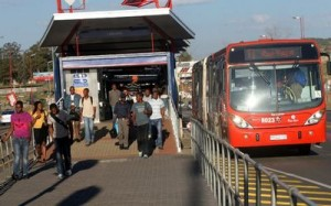 COMMUTE: Users of the Rea Vaya bus rapid transport service in Soweto. Picture: SOWETAN