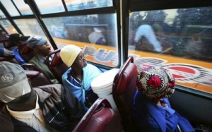 Passengers travel on a Putco bus. The taxi industry still ferries 65%-75% of commuters and has also been clamouring for subsidies. Picture: GALLO IMAGES
